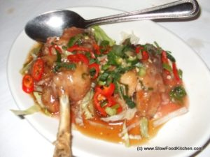 Chicken stuffed with sticky rice