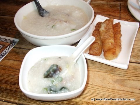 Pork and Thousand Year old egg congee