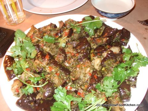 Marinated Aubergines with Tahini & Oregano
