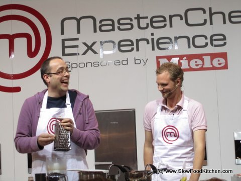 Masterchef Challenge BBC Good Food Show Alex Rushmer Dr Tim Kinnaird