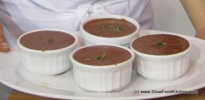 Mat Follas Chocolate and rosemary mousse