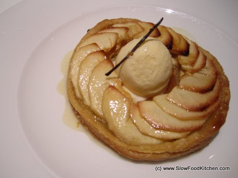 Apple Tart with calvados ice cream Pierre Koffman