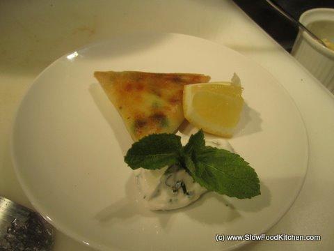 TOTAL Greek Yoghurt Vegetarian Samosas with a Minted Yoghurt Dip