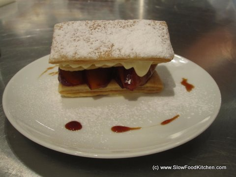 TOTAL Greek Yoghurt White Chocolate Mille-feuille with Spiced Plums