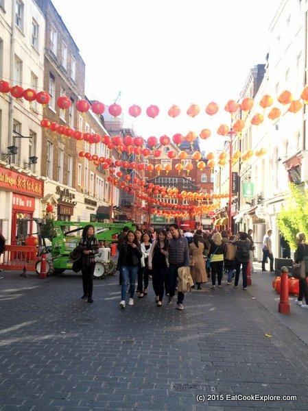 Lanterns in London Chinatown