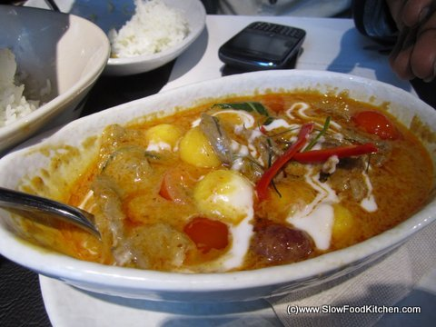 Roast Duck Red Curry, Suda Thai Restaurant, Covent Garden