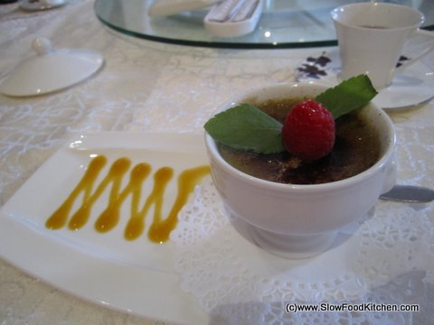 Grand Imperial Chinese Restaurant Victoria Green Tea Creme Brulee
