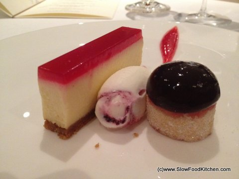 The Square Phil Howard Blackcurrant cheesecake