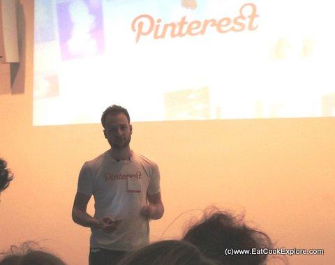 Evan Sharp Co Founder of Pinterest at the Pinterest Launch UK