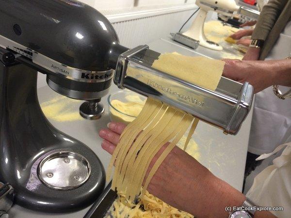 Making Pasta with Kitchen Aid Machine