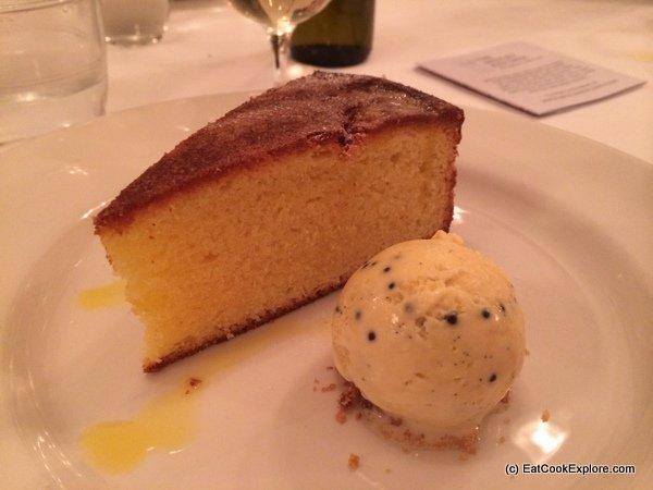 rapeseed oil lemon cake and unusual seed ice cream