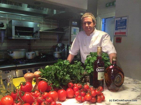 Head chef Chris O'Neill