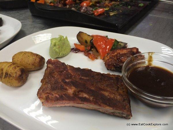 A fine BBQ meal at Weber BBQ Masterclass
