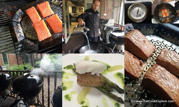Smoking Salmon and Poaching Eggs on a Weber BBQ
