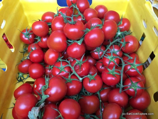 Freshly picked Isle of Wight tomatoes