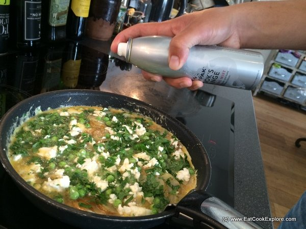 Feta Tortilla with  Lurpak's Cooking Mist