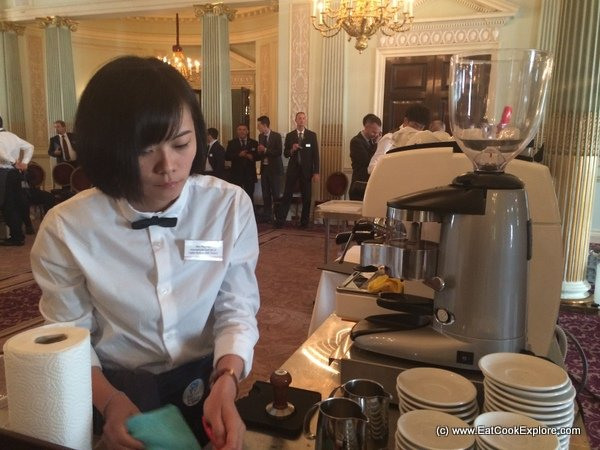 The only girl competing at the Espresso Italiano Championship 2014