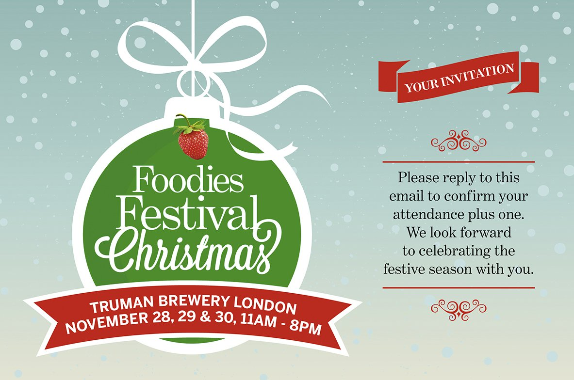 Win Two Tickets to the Foodies Festival Christmas at Truman Brewery