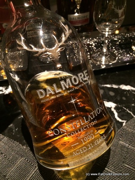 Game menu and Dalmore Whisky Tasting