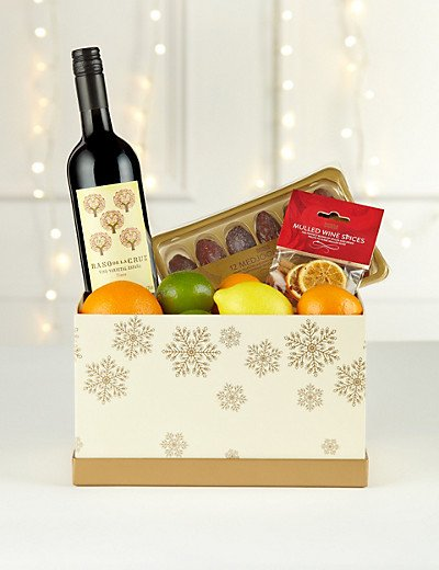 M&S Christmas Mulled Wine and Fruit Hamper