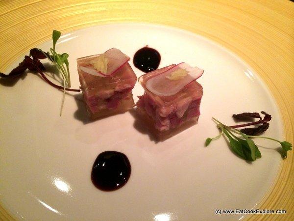 HKK Chinese Marinated Duke of Berkshire Pork with Osmanthus wine jelly
