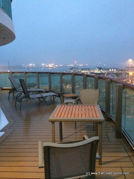 Britannia cabin balconies