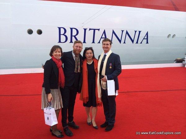 Britannia Cruise Ship Naming Ceremony