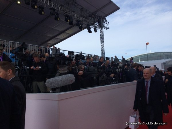Britannia Naming Ceremony The World Press awaits the Queen