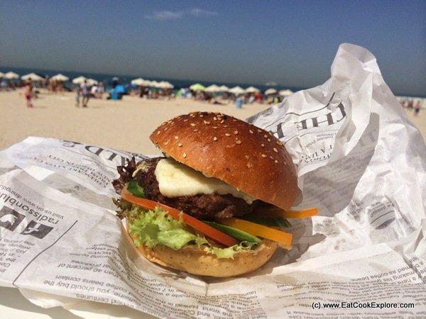 Dubai Food Festival Camel burger on Kite Beach