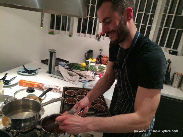 La Belle Assiete Chef Cesar at work