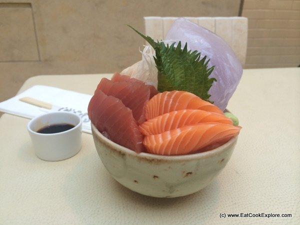 Sticks n sushi A super fresh sashimi bowl.