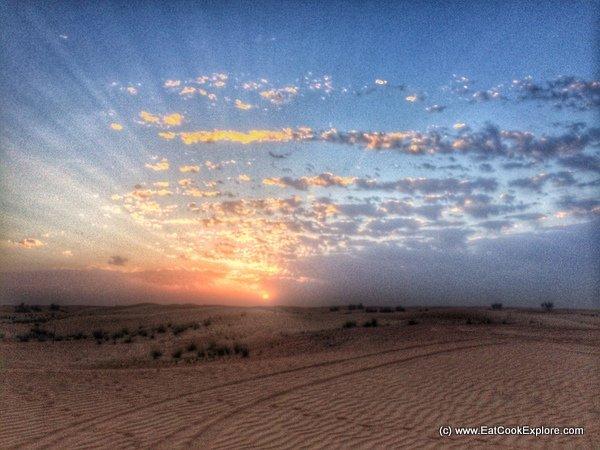 Sunset in the Desert Dubai