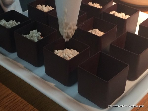 Comvita Manuka honey and peanut butter mousse in chocolate cups