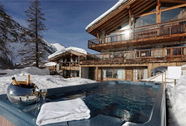 Le Chardon Exterior and Swimspa Val d'isere