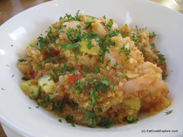 Quinoa and Prawn with Aji Amarillo Quinotto Peruvian Cooking
