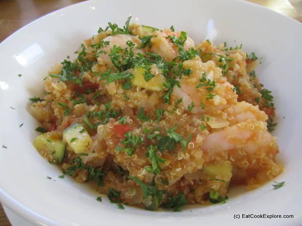 Quinoa and Prawn with Aji Amarillo Quinotto Peruvian Cooking