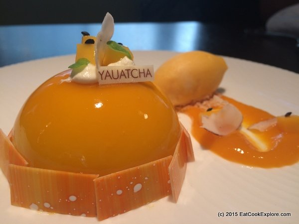 Yauatcha City Passionfruit mango dome