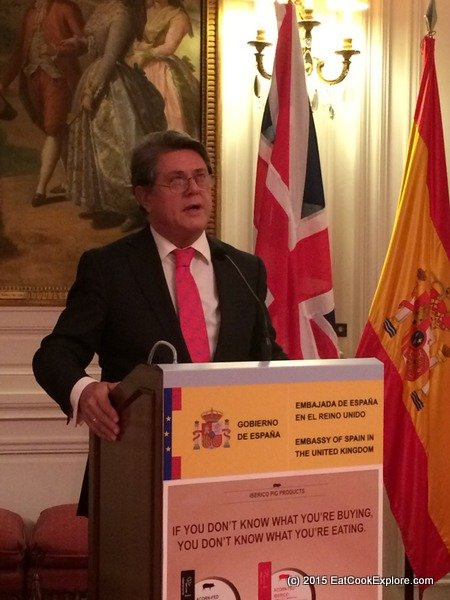 Iberico ham event The Spanish Ambassador