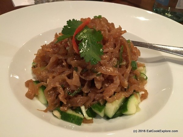 chinese cricket club Jelly fish salad
