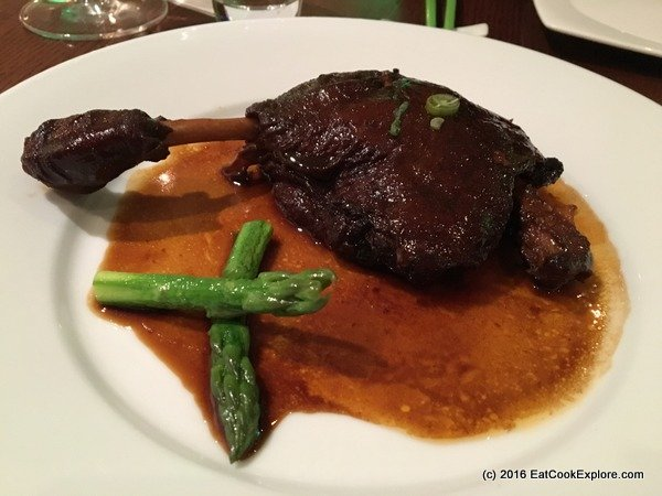 chinese cricket club Stewed Cherry duck leg in Tsing Tao beer sauce