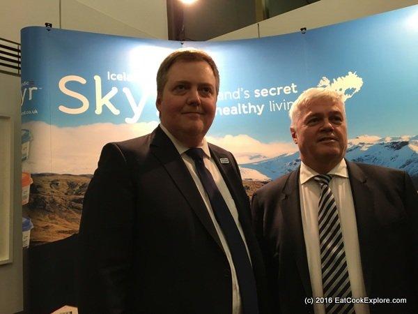 Sigmundur Davíð Gunnlaugsson Prime Minister of Iceland at Skyr launch