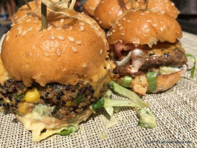 Comidafest The vegetarian quinoa burger