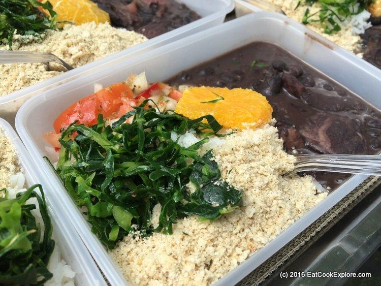 Comidafest Feijoada (Brazilian black bean & pork stew served with manioc flour, kale and vinaigrette)