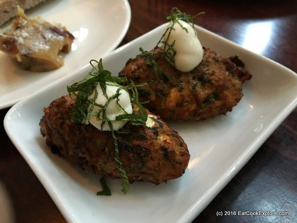 Oklava Courgette Fritters