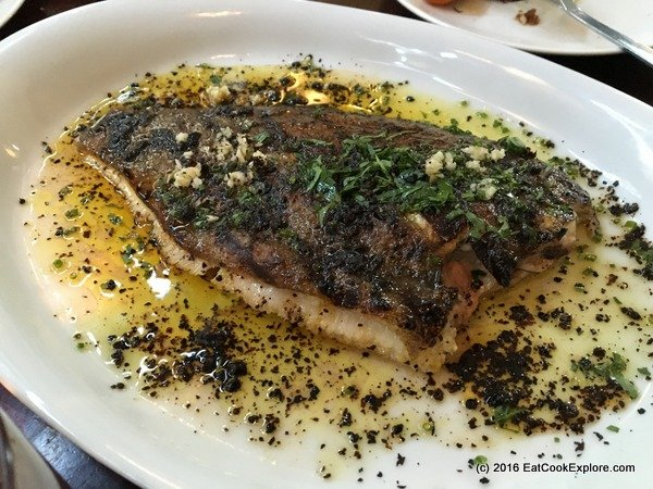 Oklava Grilled fish of the day,