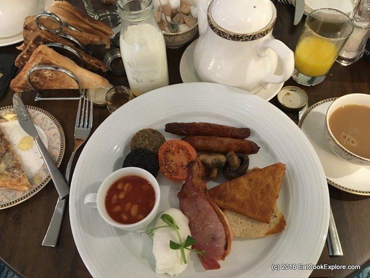Culloden Hotel Full Irish Breakfast
