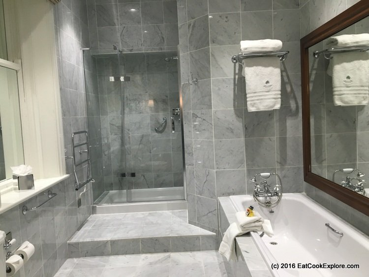 Culloden Estate and Spa Marble bathrooms