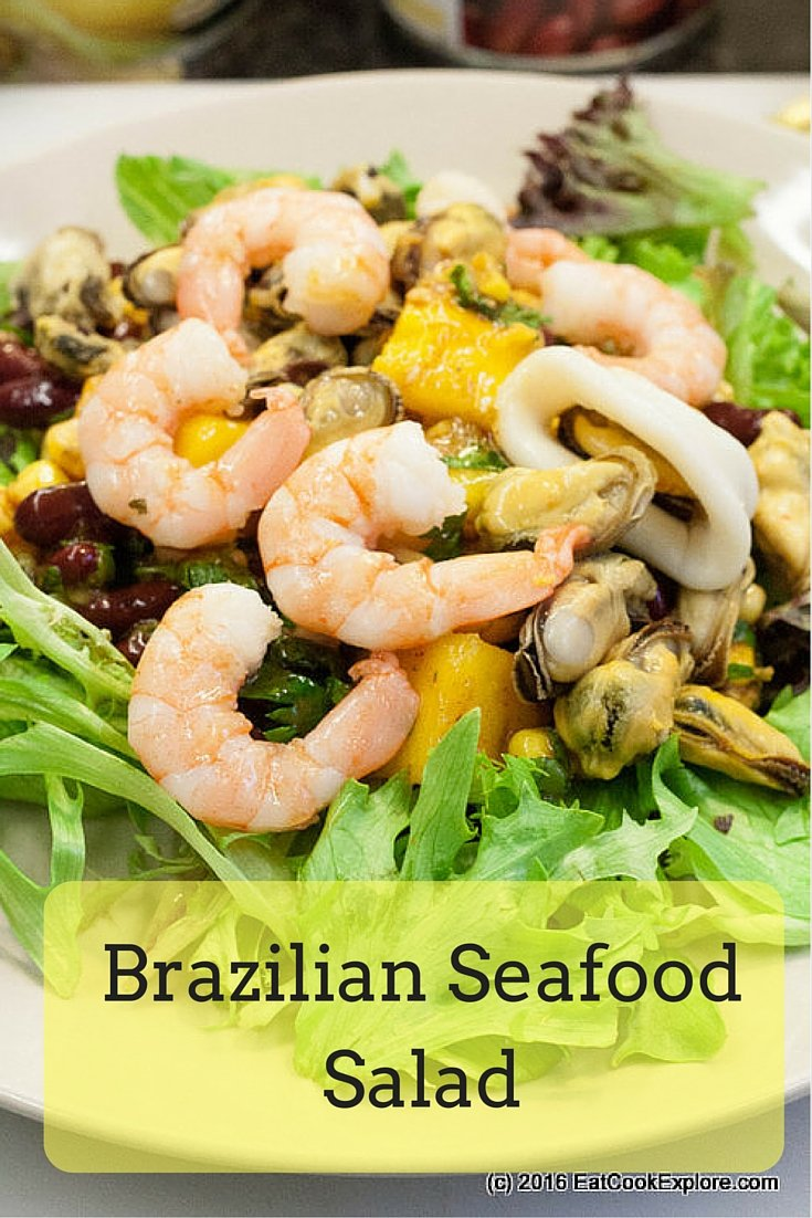 Brazilian Seafood Salad with Spicy Pickled Onions