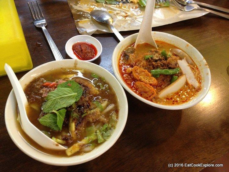 Assam Laksa and Curry Laksa