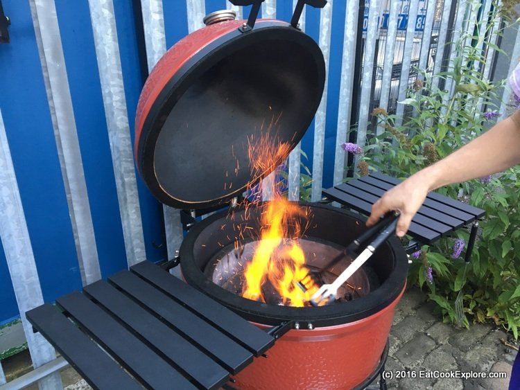 branstons-bbq Stoking the flames